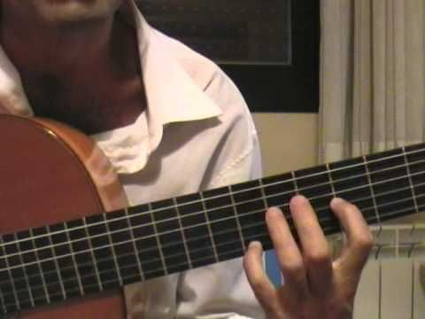 """1- 022 :Lección de guitarra: """"Asturias"""" -Albéniz  (II)"""