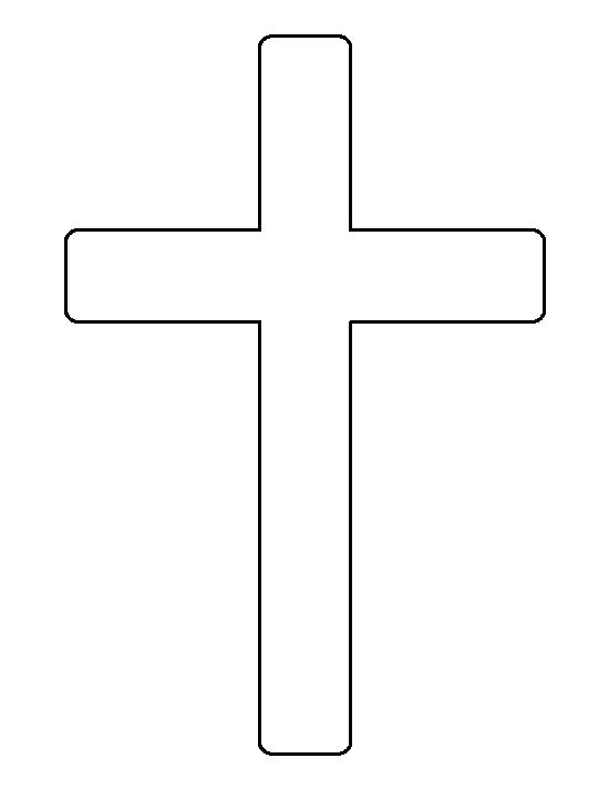 Cross pattern. Use the printable outline for crafts ...