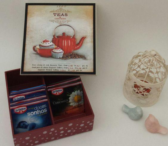 Caixa para chá | Laserfam | Elo7