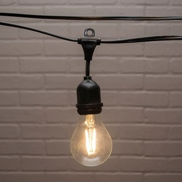 Commercial+Globe+Drop+String+Lights,+A19+Dimmable+LED,+106ft+Black+Wire,+Warm+White