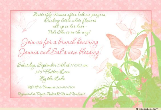 Soft Polka Dot Bordered Butterfly Shower Card