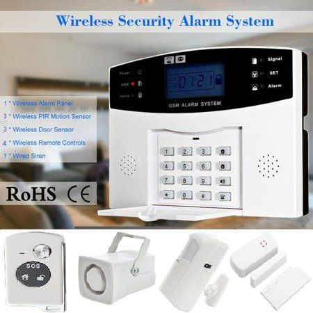 Wireless Burglar Alarm System Gsm Smart Lcd Voice Anti Theft Security Siren Wireless Home Security Systems Home Security Alarm System Security Cameras For Home