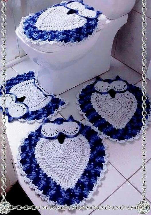 Juegos De Baño Tejidos De Buhos:explora set de baño a crochet crochet para y mucho más