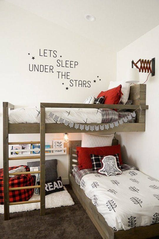 12994325_521230684716767_1034105433865439043_njpg 540810 bunk beds pinterest bunk bed room and kids rooms - Interior Design Ideas For L Shaped Bedroom