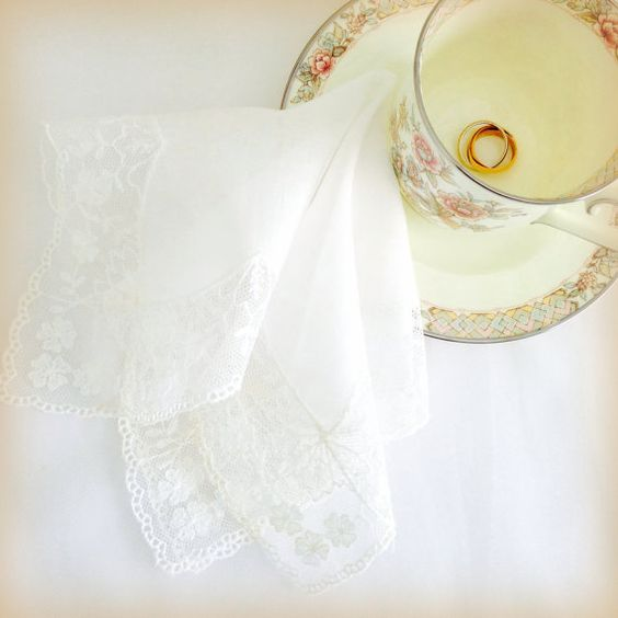 Lace Hankie White Wedding Lace Bride's Romantic by LollysCubbyHole, $18.00
