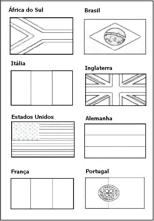Bandeiras Dos Paises Para Pintar Com Imagens Bandeiras Dos Paises Bandeira Para Colorir Pintar
