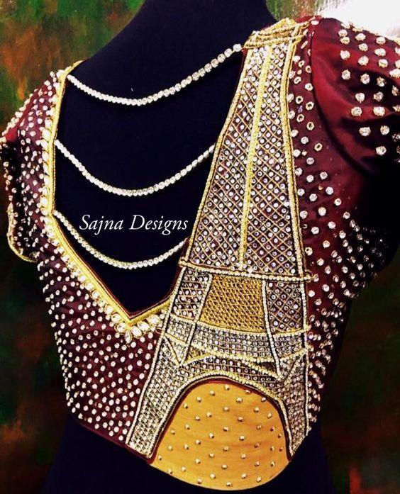 5 Beautiful Blouse designs from Sajna Designers.   FashionWorldHub.com