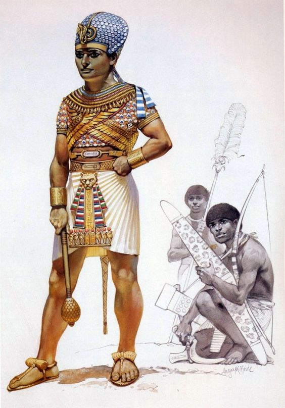 egyptian pharaoh of the 15th century BC wearing armour ...