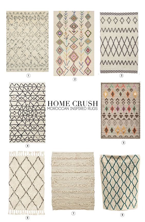 Home Crush Moroccan Inspired Rugs Inspiration Crushes