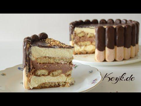 Eine Einfache No Bake Torte Rezept Als Alternative Zum Originalen Tiramisu Hier Wird Nutella Verwen In 2020 Torten Rezepte Kuchen Und Torten Rezepte Kuchen Und Torten