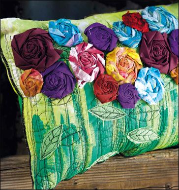 Roses Pillow.  From the book Sew Wild by Alisa Burke