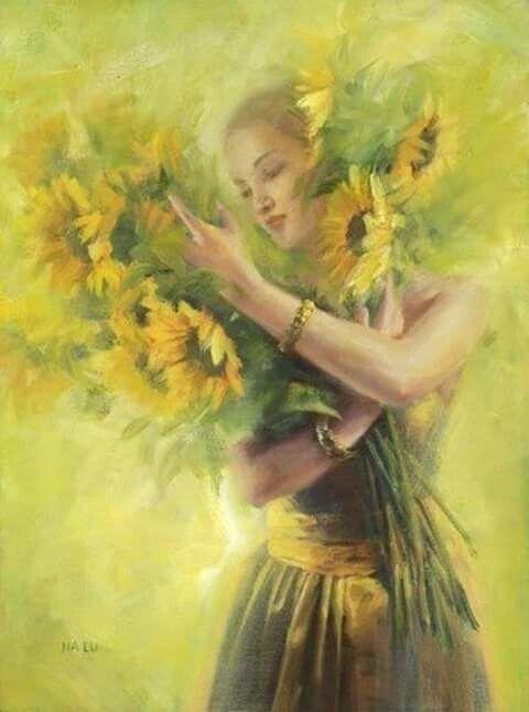 Pin De Fantasy En Girasoles Flores Amarillas Girasoles Dibujo Pinturas