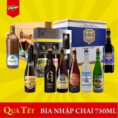 Bia nhập khẩu chai 750ml quà tặng