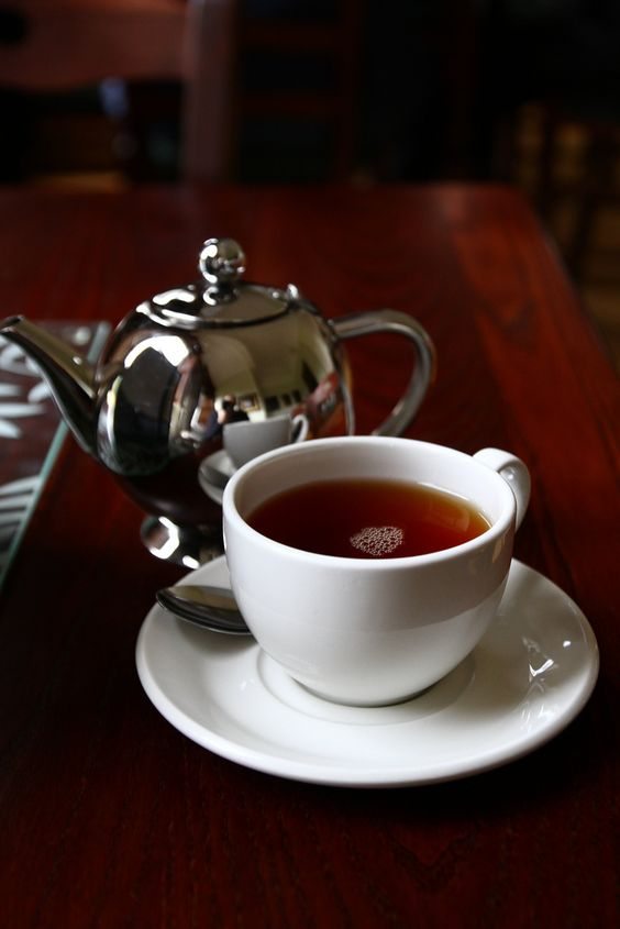 A cup of Earl Grey tea fittingly at Howick Hall where its inventor lived.: