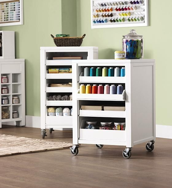 martha stewart living craft space cart with pull out trays home