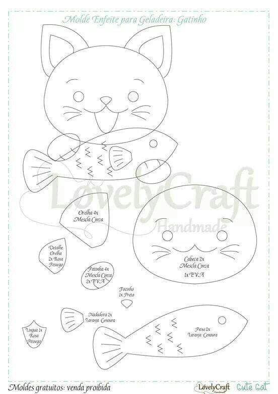 Gattino con pesce modello