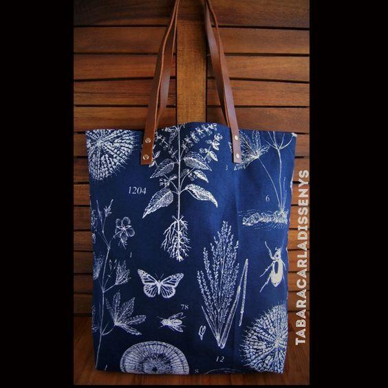 Nature Blue Tote Bag