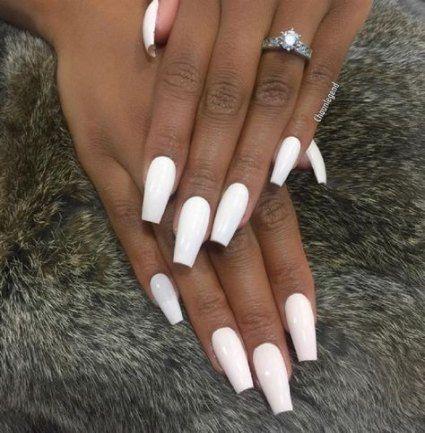 30 Trendy Manicure Dark Skin Black Girls Nails White Acrylic Nails Summer Nails Colors