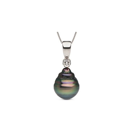 Nobility Collection Tahitian Baroque Pearl and Diamond Pendant (4 800 UAH) ❤ liked on Polyvore featuring jewelry, pendants, black, black diamond pendant, diamond jewellery, 14 karat gold jewelry, diamond pendant jewelry and baroque pearl jewelry