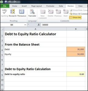 Debt to Equity Ratio Calculator - Double Entry Bookkeeping