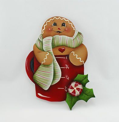 CHRISTMAS GINGERBREAD in a MEASURING CUP, CLIP ART