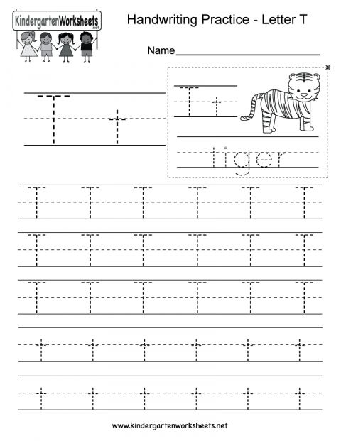 7 T Worksheet For Kindergarten Kindergarten Writing