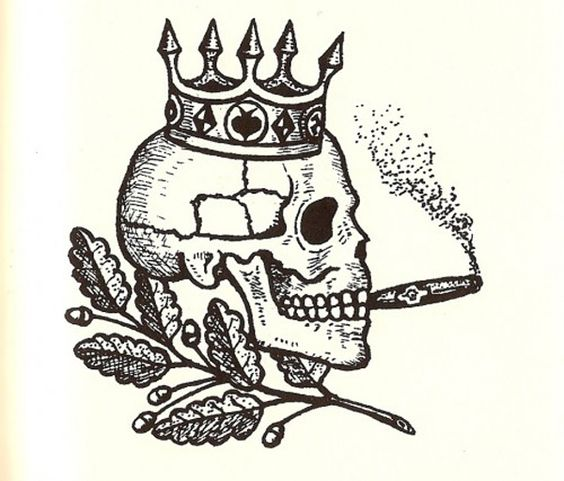 russian prison tattoo - skull and crown