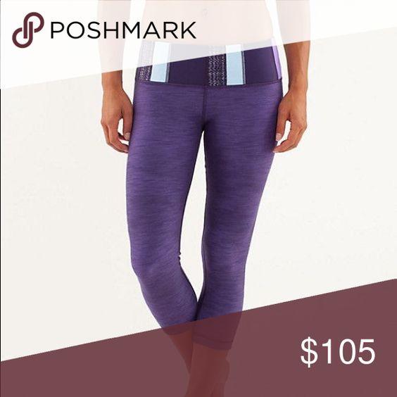 Lululemon dense purple denim wunder under Size 2 ... Denim slub wunder under! No piling, staining, rips or fading. One of my all time favorites! ️️ for $85! lululemon athletica Pants Leggings