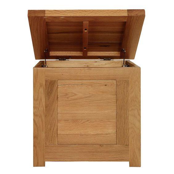 Richmond Oak Small Storage Trunk | Dunelm