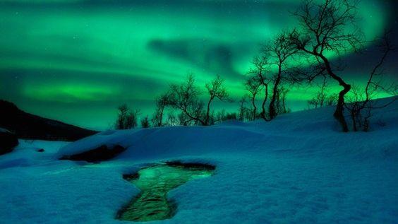 """O norueguês Arild Heitmann ficou com a segunda colocação na categoria """"Terra e Espaço"""" por sua imagem Mundo Verde. A aurora boreal, aqui fotografada em Nordland Fylke, na Noruega, é provocada por mudanças no campo magnético terrestre. (Foto: Arild Heitmann):"""