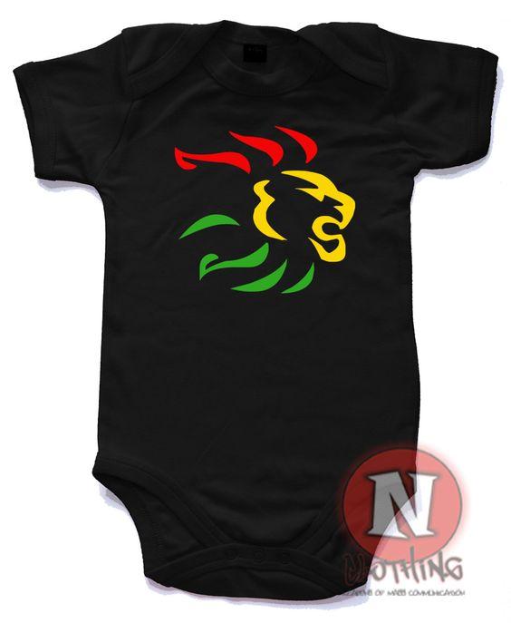 Rasta lion reggae babygrow onesie Babygrow baby suit in
