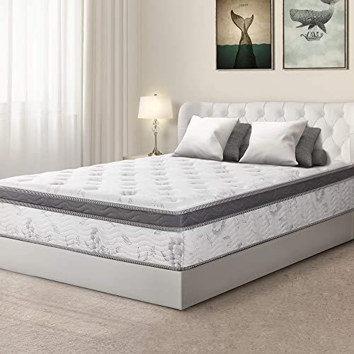 Buy Olee Sleep 12 Inch Hybrid Euro Box Top Pocket Spring Mattress King Online Goodlucktou In 2020 Bed Mattress Memory Foam Mattress Springs Pocket Spring Mattress