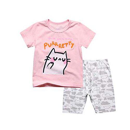 Panda Superstore Fashion Girl Pajamas Soft Cotton Kids Summer