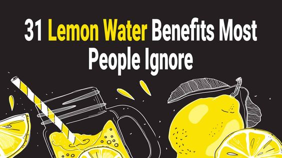 Lemon water benefits 74852