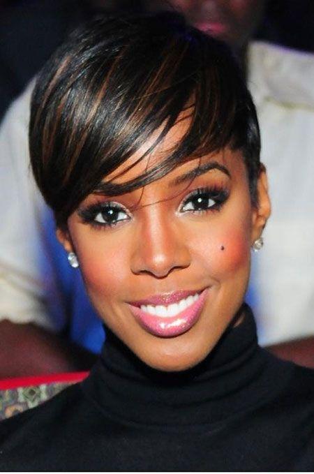 Super Pixie Hairstyles Black Women And Highlights On Pinterest Short Hairstyles For Black Women Fulllsitofus
