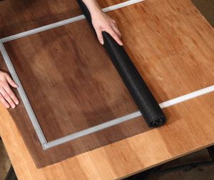 Instructions for making window screen frame.