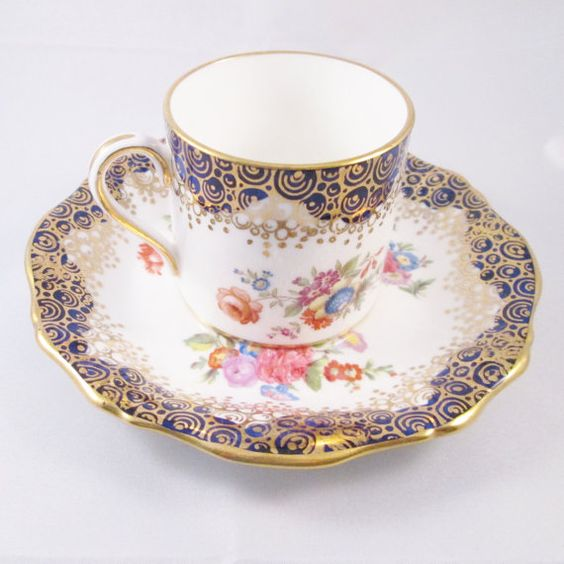 Reserved for April English Bone China Hand Decorated Demitasse Cup ...