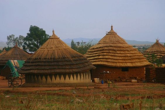 Africa | Traditional housing. Juba, South Sudan. | © Lindsay Stark::