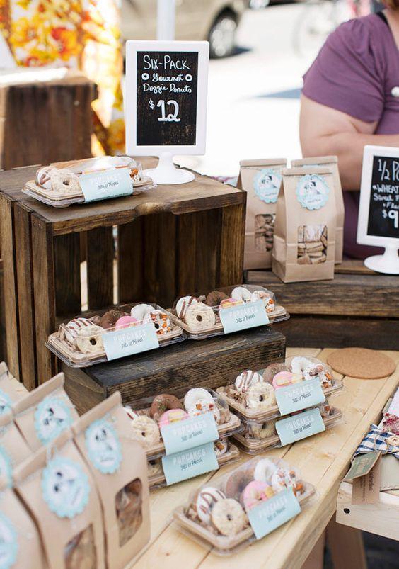 Dog Treats  6 Pack Gourmet Doughnuts by PupcakesTreats on Etsy, $12.00