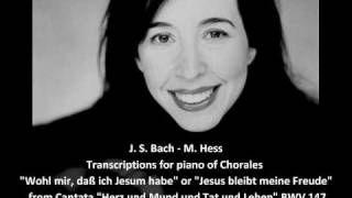 J. S. Bach - Dame Myra Hess - Piano Transcription of Jesu Joy of Man's Desiring from Cantata BWV 147, via YouTube.