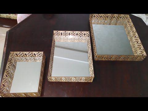 مشروع مربح ربات البيوت إصنعي بنفسك بلاطو صواني تقديم الحلويات Youtube Diy Frame Mirror