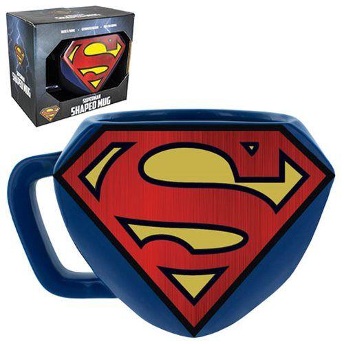Superman Shaped Mug Paladone Products Supermanmugs Supermangifts Supermangiftideas Supermanfan Superman Superman Gifts Mugs