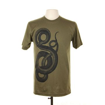 Big Snake Crew T-Shirt by Supermaggie