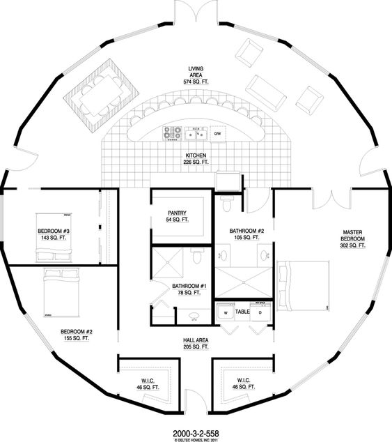 Round house yurts and round tower on pinterest for Round home floor plans