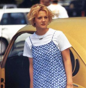 Drew Barrymore - 90s slip dress