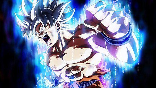 Goku Mastered Ultra Instinct Poster By D34thdesing Goku Wallpaper Goku Ultra Instinct Wallpaper Dragon Ball Super