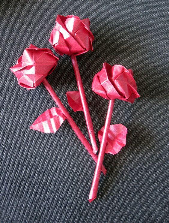 Kawasaki Roses made by Ars Origami.