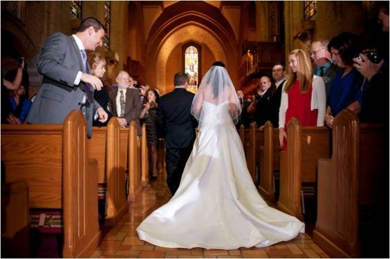 Bride Walking Down The Aisle Our Lady Of Grace Catholic