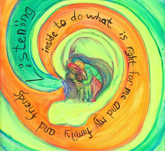 Listening Inside by Space8art on Etsy