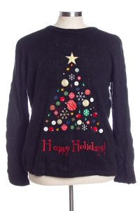 Black Ugly Christmas Pullover 31386